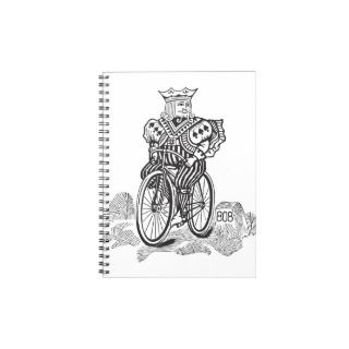 Bicycle® Joker King on a Bike Spiral Note Book