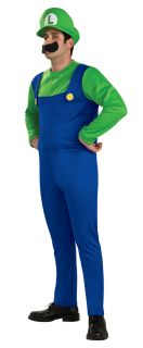 Official Super Mario Luigi Bros Mens Boys 80s Game Fancy Dress