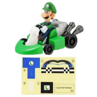 Wii Super Mario Bros Kart Push Along Racer Luigi Car
