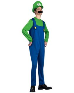 Super Mario Bros Luigi Costume Teen Standard New