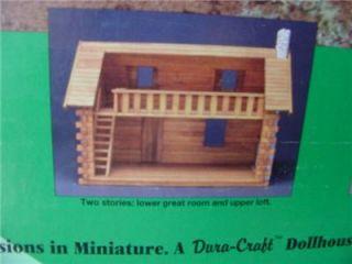 Pioneer Real Log Cabin Dollhouse Dura Craf New SEALED