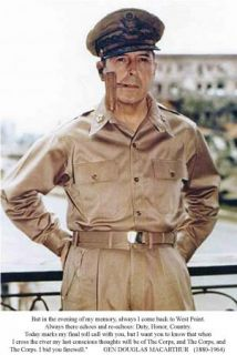 Gen Douglas MacArthur West Point Final Will Be of The Corps The Corps