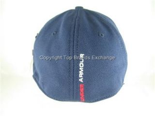 Mens Under Armour Navy Blue Baseball Cap Hat Lid HeatGear Running