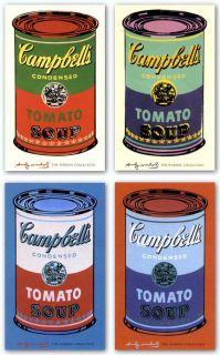 Art Set Campbells Soup Can 1965 Set Andy Warhol