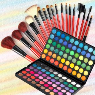 Fräulein 3°8® 120 Colores Paleta Sombra de Ojos + 18 Pinceles