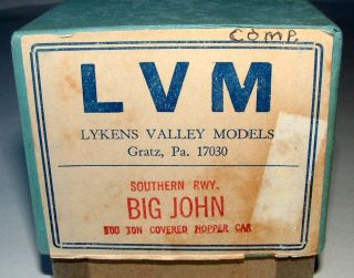 Lykens Valley Wood Model Kit Big John 100 Ton Covered Hopper Car