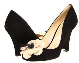 Kate Spade New York Caelyn Black Suede Wedge Heel Size 7 $325 New
