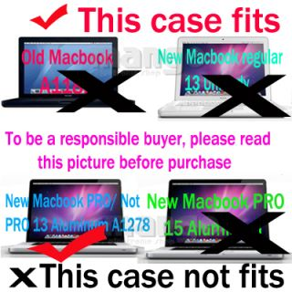Soft Sleeve Hard Case Keyboard Cover for MacBook Pro 13