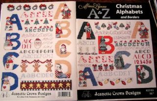 Pattern Counted Cross Stitch Alma Lynne A to Z Christmas Alphabets and
