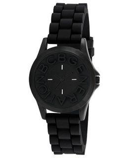 BCBGeneration Watch, Womens Black Silicone Strap 38mm GL4206   All