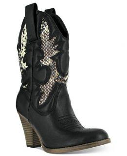 Mia Booties, Laurene Cowboy Booties