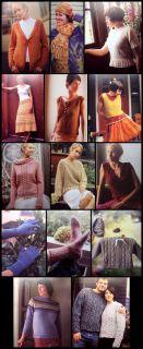 Knitting 20 Patterns Cable Raglan Zip Cardigan Mesh Pullover Pants