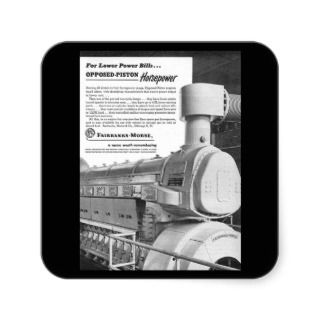 Fairbanks Morse Opposed Piston Engines Square Stickers
