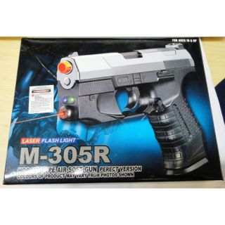James Bond M305R Spring Pistol FPS 140 Airsoft Hand Gun + Laser + LED
