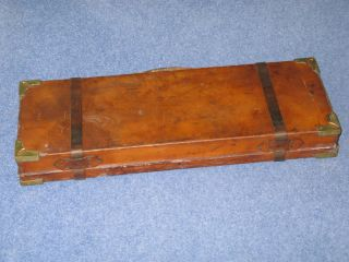Period Vintage Leather James Macnaughton Double Gun Case C1897