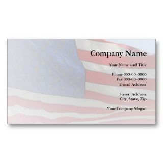 American Flag Business Card by BusinessCardsCards