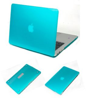 Blue Rubberized Hard Case Cover for Apple MacBook Air 13 inch 2010
