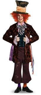 Mad Hatter Prestige Disney Alice Wonderland Men Costume XL