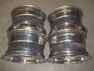 Set of 4 Luxor 13x7 Wire 80 Spoke Steel Wheels Rims 5 Lug Lowrider Low
