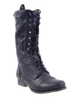 Madden Girl Steve Madden Geirard Womens Blacks Boots Sz 8 M