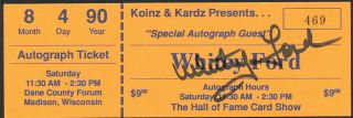 Whitey Ford Yankees Hand Signed Autographed Autograph Ticket