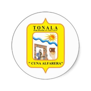 Tonala, Mexico Round Stickers