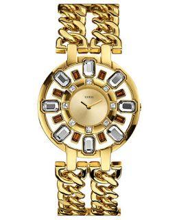 GUESS Watch, Womens Gold Tone Double Chain Bracelet 40mm U0082L1