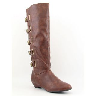 Madden Girl Zhesty Womens Sz 8 5 Brown Cognac Boots Knee Shoes