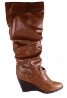 Madden Girl by Steve Madden Umpiree Womens Knee High Cognac Boots Size