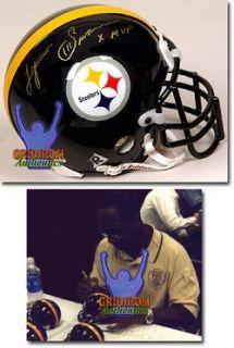 Lynn Swann Autographed Pittsburgh Steelers Mini Helmet w RARE x MVP