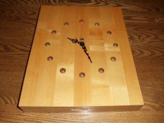 Butcher Block Wall Clock Custom Hand Made Mike Madsen Urgos Key
