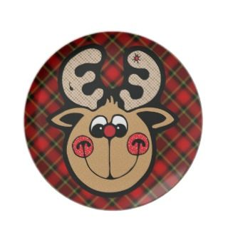 rudolph red nose reindeer plates