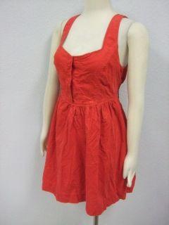 DESCRIPTION  NWOT Maeve Anthropologie Bright Red Corduroy Dress Sz