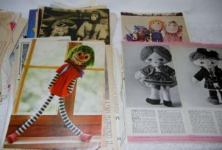 Patterns Doll Making Sewing Crochet Knitting Magazines Books