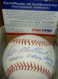Bill Mad Dog Madlock Autograph Signed Baseball 4X WS Champs 75 76 81