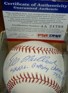 Bill Mad Dog Madlock Autograph Signed Baseball 4X WS Champs 75 76 81