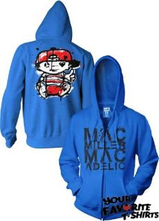 Mac Miller Macmiller Macadelic Officially Licensed Adult Zip Up Hoodie