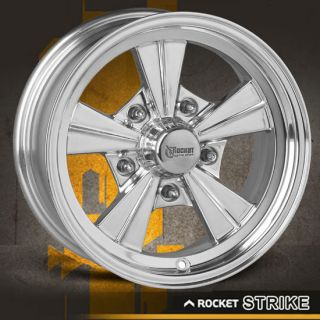15 x 7 ROCKET STRIKE HOT ROD MAG CHEVY FORD WHEELS POLISHED