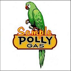 Polly Gas Parrot 2x2 Decal   Sign   Stickers   Gas Globes   Gasoline