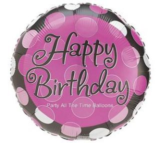 Pink Magenta Ladybug Birthday Party Balloons Polka Dots Decorations
