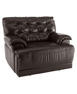 Dylan Leather Power Recliner Chair, 46W x 42D x 39H