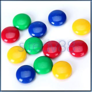 12x Memo Message Note Papter Whiteboard Magnetic Pin Button Fridge