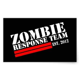 Zombie Outbreak Response Team Rectangle Sticker