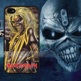 Unique Iron Maiden Cool Skeleton Catoon Print iPhone 4S 4 4G Case