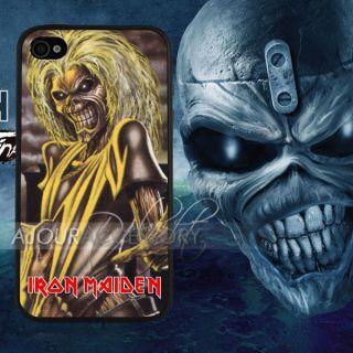 Unique Iron Maiden Cool Skeleton Catoon Print iPhone 4S 4 4G Case