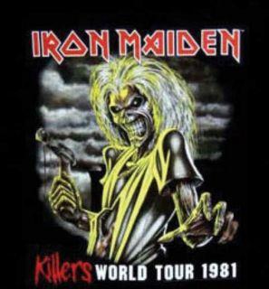 Iron Maiden Killers 1981 World Tour Rock Metal RARE T Shirt L NWT