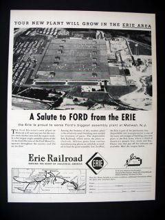 Ford Motor Assembly Plant Mahwah NJ 1955 Print Ad Advertisement