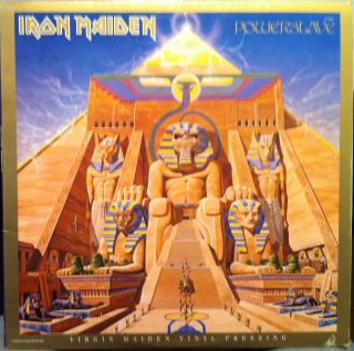 Iron Maiden Powerslave LP VG SJ 12321 Vinyl 1984 Record