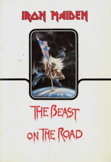Iron Maiden 1982 Number of The Beast U s Tour Concert Program Book