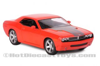 Maisto Dodge Challenger Concept Orange Diecast 1 18